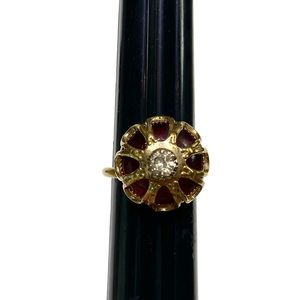 Vintage Sarah Coventry red gold tone ring